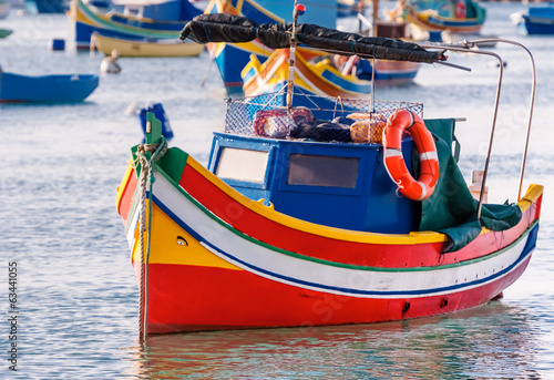 Colored fishing boat, Malta