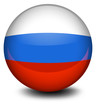 A ball with the Russian flag