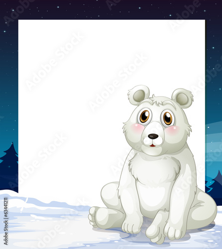 An empty template with a polar bear