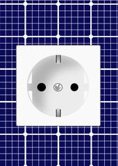 Steckdose Solarzellen