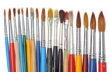 Paintbrushes isolated on white