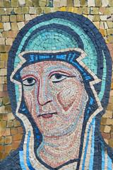 Mosaic of Mother Mary. Byzantine Style, Sicilian School..