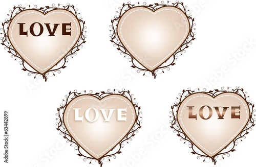 Hearts labels