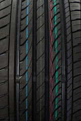 Summer tyre closeup