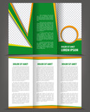 Vector empty trifold brochure print template eco design poster