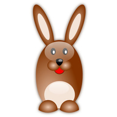 Uovo di Pasqua a forma di coniglio