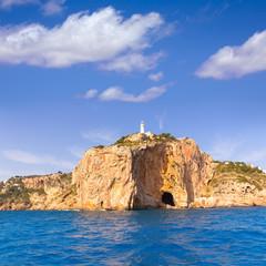 Javea Cabo de la Nao Lighthouse cape in Alicante
