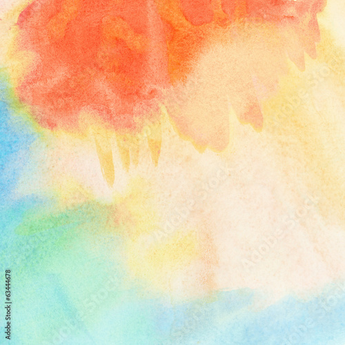 Abstract light colorful watercolor background