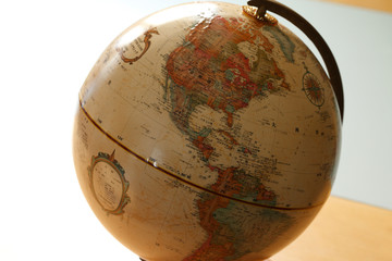 地球儀、アメリカ
