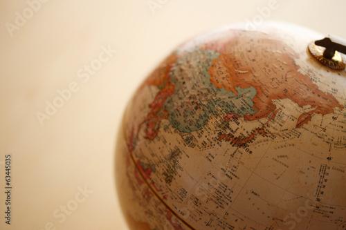 地球儀、アジア плакат