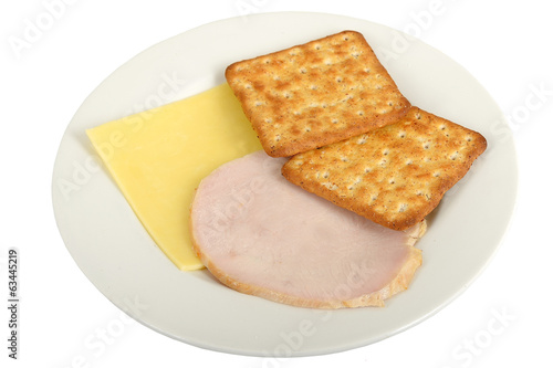 Turkey with Cheese and Crackers