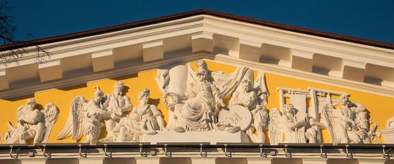 pediment of the Admiralty Saint Petersburg