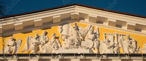 pediment of the Admiralty Saint Petersburg