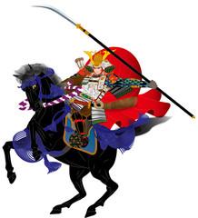 戦国武将風イメージイラスト