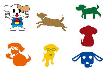 犬のイラストのセット