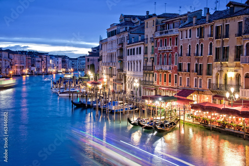 Venice by night from the Rialto bridge