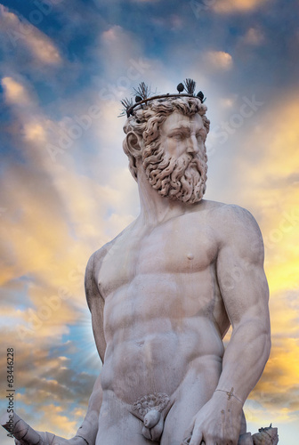 The Fountain of Neptune by Bartolomeo Ammannati in front of the