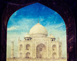 Taj Mahal through arch, Agra, India
