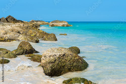 Tropical stones beach. Phuket island.