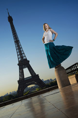 photo of fashion woman in Paris