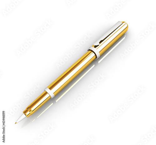 Gold corporate pen design