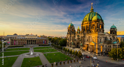 canvas print picture Berlin - city view