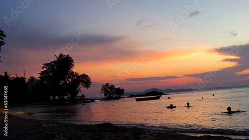 Wong Amat Beach Sunset.