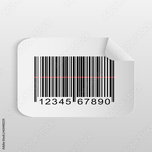Barcode Sticker Illustration