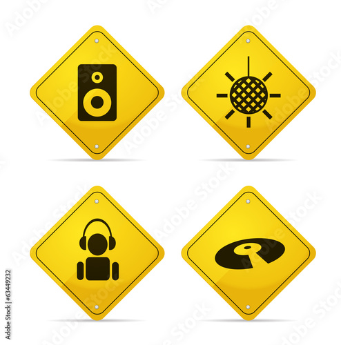 Disco Road Signs