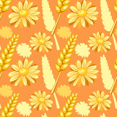 summer field seamless pattern