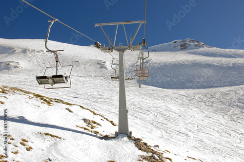 ski lift on ski resort
