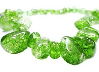 emerald gemstone beads necklace jewelery