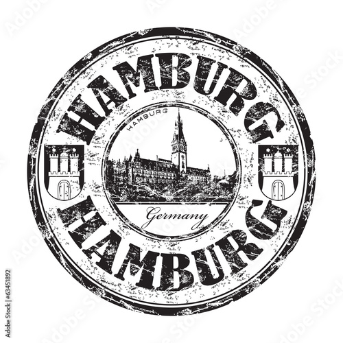 Hamburg grunge rubber stamp
