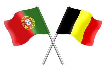 Flags: Portugal and Belgium