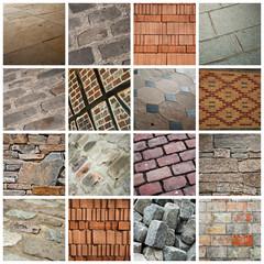 composition briques pavés et carrelage