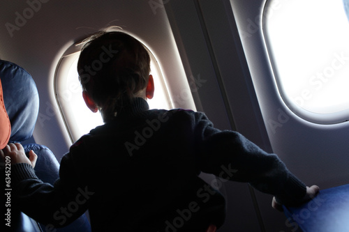 Boy in aircraft