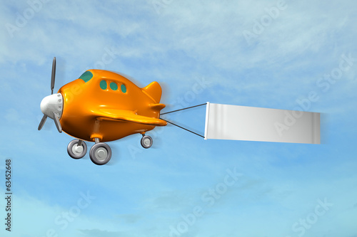 Flugzeug Cartoon Banner