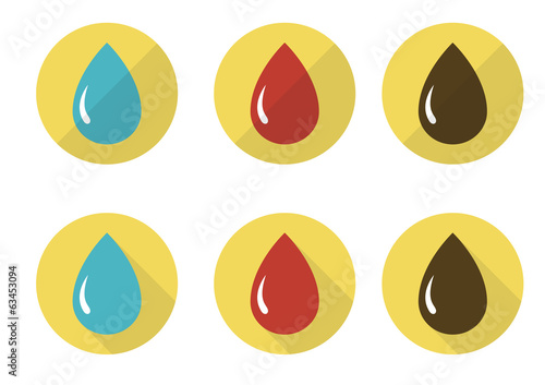 Drops icon set