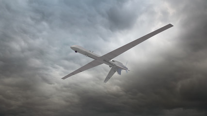 An unmanned reconnaissance drone