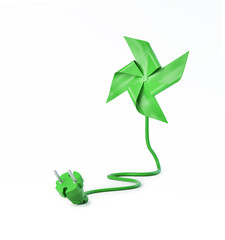 Pinwheel with a power cord
