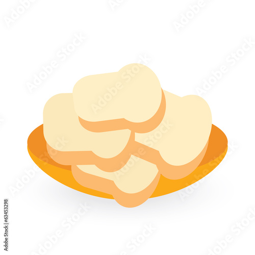 bread bakery isolated on white background