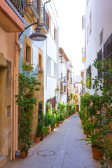 Javea Xabia old town streets in Alicante Spain © lunamarina