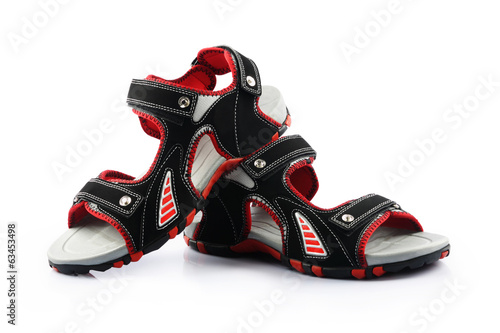 Sandals isolated on white background