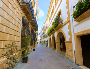 Javea Xabia old town streets in Alicante Spain