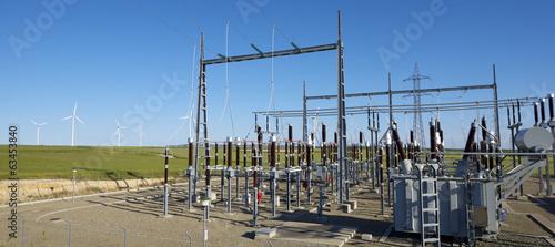 Leinwanddruck Bild Electrical substation