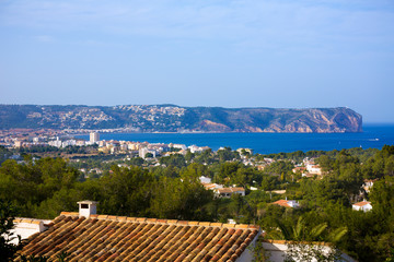Javea Xabia skyline with San Antonio Cape Alicante