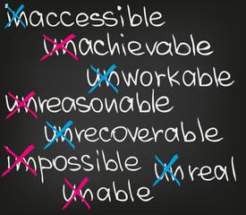 Impossible unreasonable