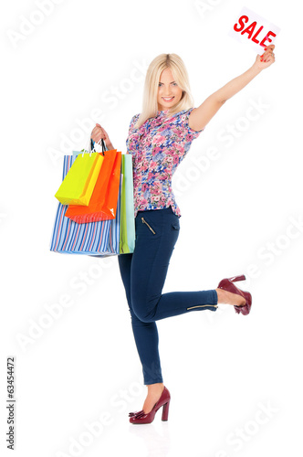 Woman shopping