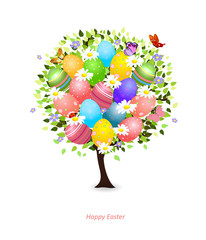 easter floral tree for your design