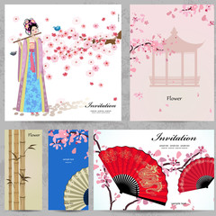 Greeting cards. Beautiful Women of China